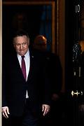 U.S. Secretary of State Mike Pompeo leaves 10 Downing Street in London, Thursday, Jan. 30, 2020. (Photo/Vudi Xhymshiti)