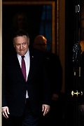 U.S. Secretary of State Mike Pompeo leaves 10 Downing Street in London, Thursday, Jan. 30, 2020. (Photo/Vudi Xhymshiti)