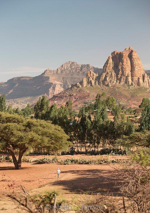 Rural Landscape Near Hawzen, Gheralta area, Tigray, Ethiopia, Horn of Africa