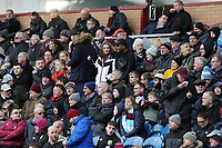 Burnley fans anxiously watch the second half action<br /> <br /> Photographer Rich Linley/CameraSport<br /> <br /> The Premier League - Burnley v Aston Villa - Wednesday 1st January 2020 - Turf Moor - Burnley<br /> <br /> World Copyright © 2020 CameraSport. All rights reserved. 43 Linden Ave. Countesthorpe. Leicester. England. LE8 5PG - Tel: +44 (0) 116 277 4147 - admin@camerasport.com - www.camerasport.com