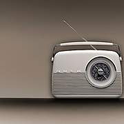 A bush retro vintage design radio product photographed in the Hype Photography studio by commercial and advertising photographer Stuart Freeman.