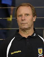 Fotball<br /> 08.09.2004<br /> Skottland v Slovenia<br /> Foto: SBI/Digitalsport<br /> NORWAY ONLY<br /> <br /> Scotland manager Berti Vogts shows the pressure before the game