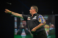 Gary Anderson (Scotland) during the Betway Premier League Darts Night Eight at Marshall Arena, Milton Keynes, United Kingdom on 21 April 2021