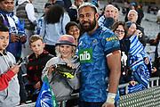 Patrick Tuipulotu poses for a photo.<br /> Blues v Force, Sky Super Rugby Trans-Tasman. Eden Park, Auckland. New Zealand. Saturday 12 June 2021. © Copyright Photo: Andrew Cornaga / www.photosport.nz