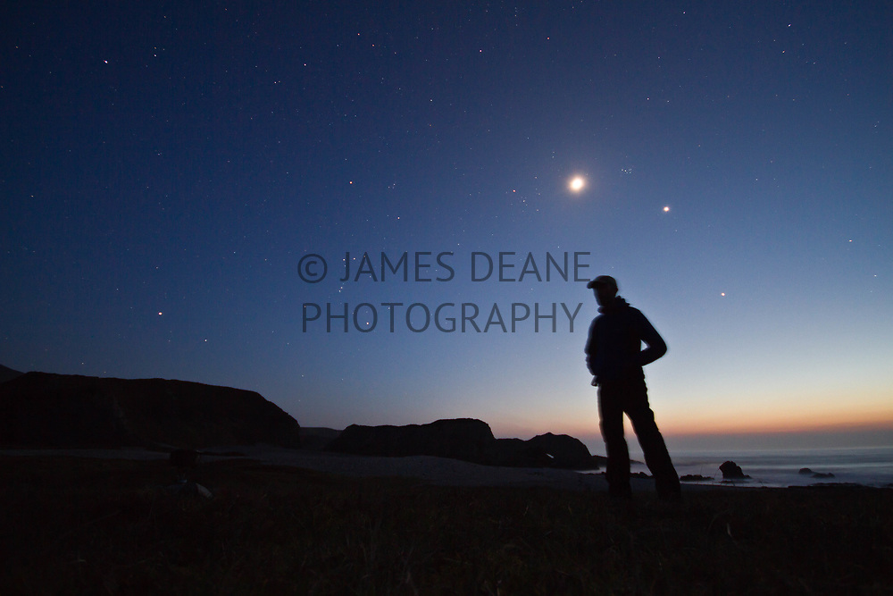 Camping near Bholsa, Islay in 2012 to witness a planetary conjunction