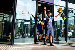 Benjamin Savsek, Olympic gold medalist and Joze Vidmar during his arrival from Tokyo 2020 on July 28, 2021 in Airport Joze Pucnik, Brnik, Ljubljana, Slovenia. Photo by Matic Klansek Velej / Sportida