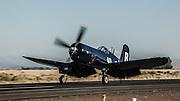 Chance-Vought F4U-7 Corsair of the Erickson Aircraft Collection landing.