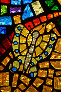 Stained glass depicting the resurrection of Jesus Christ with the butterfly as a symbol on Tuesday, Aug. 24, 2021, at Grace Lutheran Church, Summerville, S.C. LCMS Communications/Erik M. Lunsford