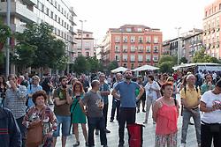 June 2, 2017 - Madrid, Spain - Dozens of people comes to the presentation..Dozens of people comes to the Anti-CETA march, some MEP comes too. (Credit Image: © Jorge Gonzalez Moreno/Pacific Press via ZUMA Wire)