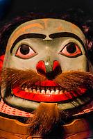Tlingit tribal artifacts, Sitka National Historical Park, Sitka, Alaska USA.