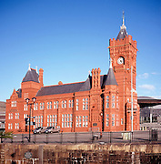 Pierhead building former headquarters Bute Dock Company, Cardiff Bay, Wales