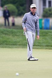 June 23, 2018 - Cromwell, Connecticut, United States - Brian Harman watches his putt on the 9th green during the third round of the Travelers Championship at TPC River Highlands. (Credit Image: © Debby Wong via ZUMA Wire)