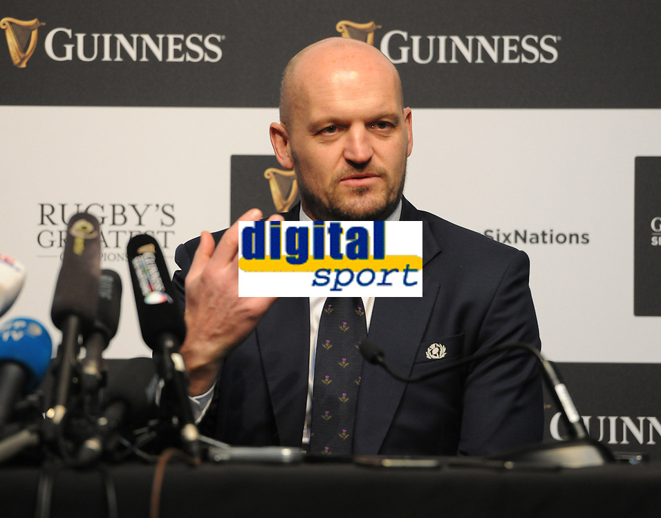 Rugby Union - 2020 Guinness Six Nations Launch Press Conference - Tobacco Dock, London<br /> <br /> Scotland coach Gregor Townsend<br /> <br /> COLORSPORT/ANDREW COWIE