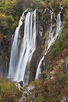 Plitvicka Slap; the biggest waterfall in Plitvice National Park; Croatia