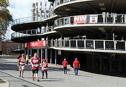 10/03/2018 Lions supporters trickle in early afternoon before the game between  Gauteng Lions vs the Auckland Blues at The Emirates Airlines Stadium, Ellis Park, Johannesburg, South Africa. Picture: Karen Sandison/African News Agency (ANA)
