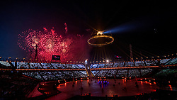 PYEONGCHANG-GUN, SOUTH KOREA - FEBRUARY 09: Opening Ceremony of the PyeongChang 2018 Winter Olympic Games at PyeongChang Olympic Stadium on February 9, 2018 in Pyeongchang-gun, South Korea. Photo by Ronald Hoogendoorn / Sportida