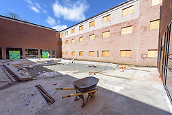 Major Renovation Litchfield Hall WCSU Danbury CT<br /> Connecticut State Project No: CF-RD-275<br /> Architect: OakPark Architects LLC  Contractor: Nosal Builders<br /> James R Anderson Photography New Haven CT photog.com<br /> Date of Photograph: 29 March 2017<br /> Camera View: 11 - Courtyard, View Northwest