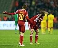 Belgium's Marouane Fellaini looks on dejected at the final whistle<br /> <br /> - European Qualifier - Belgium vs Wales- Heysel Stadium - Brussels - Belgium - 16th November 2014  - Picture David Klein/Sportimage