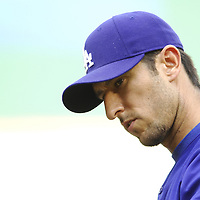 30 May 2007:  Los Angeles Dodgers first baseman Nomar Garciaparra during batting practice prior to the game against the Washington Nationals.  The Dodgers defeated the Nationals 5-0 at RFK Stadium in Washington, D.C.  ****For Editorial Use Only****