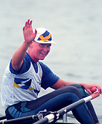 Tampere Kaukajaervi,  FINLAND.   Women's Single Sculls SWE W1X  Maria BRANDIN,  1995 World Rowing Championships - Lake Tampere, 08.1995<br /> <br /> [Mandatory Credit; Peter Spurrier/Intersport-images] Re-Edited and file ref No. updated, 16th January 2021.