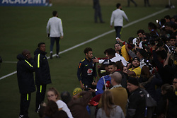 May 25, 2018 - Rio De Janeiro, Brazil - Brazilian player Neymar in interview after training at Granja Comari in Teresopolis Rio de Janeiro today May 25, 2018  (Credit Image: © Fabio Teixeira/NurPhoto via ZUMA Press)
