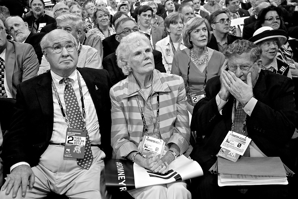 TAMPA, FL - AUGUST 28: Republican National Convention at the Tampa Bay Times Forum on August 29, 2012 in Tampa, Florida. Former Massachusetts Gov. Mitt Romney was nominated as the Republican presidential candidate during the RNC, which is scheduled to conclude August 30