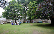 Picnic on village green, Widecombe-in-the-Moor, Devon, England, UK