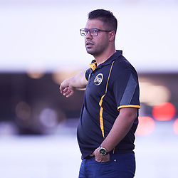 BRISBANE, AUSTRALIA - JANUARY 27: Jets coach Pouria Nabi gives instructions during the Kappa Silver Boot Third Place match between Moreton Bay United and Brisbane City on January 27, 2018 in Brisbane, Australia. (Photo by Patrick Kearney)