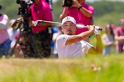 May 12, 2019 - Dallas, TX, U.S. - DALLAS, TX - MAY 12: Sung Kang hits from the #4 fairway bunker during the final round of the AT&T Byron Nelson on May 12, 2019 at Trinity Forest Golf Club in Dallas, TX. (Photo by Andrew Dieb/Icon Sportswire) (Credit Image: © Andrew Dieb/Icon SMI via ZUMA Press)