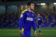 AFC Wimbledon midfielder Cheye Alexander (7) looking up the pitch during the EFL Sky Bet League 1 match between AFC Wimbledon and Peterborough United at Plough Lane, London, United Kingdom on 2 December 2020.