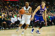 WACO, TX - JANUARY 7: Lester Medford #11 of the Baylor Bears drives to the basket against the Kansas Jayhawks on January 7, 2015 at the Ferrell Center in Waco, Texas.  (Photo by Cooper Neill/Getty Images) *** Local Caption *** Lester Medford
