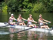 Henley Royal Regatta, Henley on Thames, Oxfordshire, 28 June - 2 July 2017.  Friday  10:36:04   30/06/2017  [Mandatory Credit/Intersport Images]<br /> <br /> Rowing, Henley Reach, Henley Royal Regatta.<br /> <br /> The Women's Four<br />  New York Athletic Club, U.S.A.