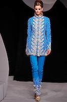 Michaela Kocianova walks the runway  at the Christian Dior Cruise Collection 2008 Fashion Show