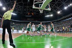 Basketball match between KK Union Olimpija and KK Krka in 4nd Final match of Telemach Slovenian Champion League 2011/12, on May 24, 2012 in Arena Stozice, Ljubljana, Slovenia.  (Photo by Grega Valancic / Sportida.com)