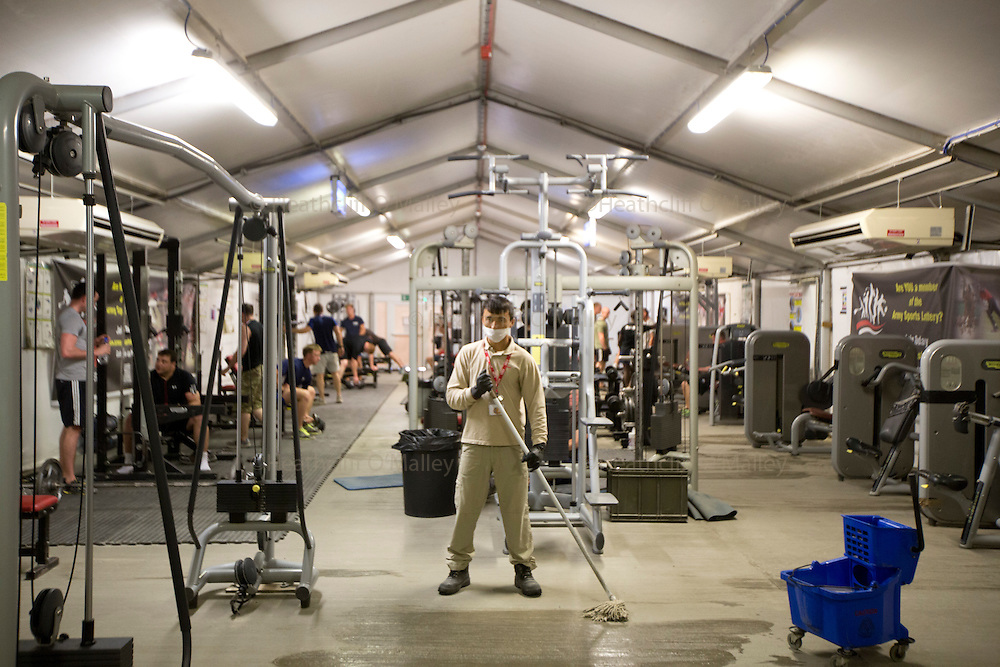 Camp Bastion Main Gymnasium<br /> <br /> Images of the KBR team working at Camp Bastion for Afghanistan Legacy Supplement .