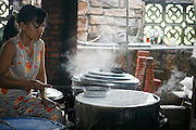 Hoi An, Vietnam. March 14th 2007..A rice leaf workshop in the village of Thuan Tinh.