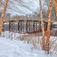 American Revolutionary War winter landscape photography of the North Bridge framed by colorful birch trees at the Minute Man National Historic Park in Concord, Massachusetts.<br /> <br /> New England American Revolutionary War photography pictures of the North Bridge are available as museum quality photo, canvas, acrylic, wood or metal prints. Wall art prints may be framed and matted to the individual liking and interior design decoration needs:<br /> <br /> https://juergen-roth.pixels.com/featured/american-revolutionary-war-monument-juergen-roth.html<br /> <br /> Good light and happy photo making!<br /> <br /> My best,<br /> <br /> Juergen