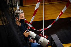 The Dutch photographer Henk Seppen in action in the match Netherlands against Slovenia during the European Championship qualifying match on January 6, 2020 in Topsportcentrum Almere