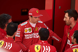 May 11, 2019 - Barcelona, Catalonia, Spain - Charles Leclerc of Monaco and Scuderia Ferrari Mission Winnow talking whit his team during qualifying for the F1 Grand Prix of Spain at Circuit de Barcelona-Catalunya on May 11, 2019 in Barcelona, Spain. (Credit Image: © Jose Breton/NurPhoto via ZUMA Press)