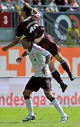 24.07.2010, Fritz-Walter Stadion, Kaiserslautern, GER, 1. FBL, Friendly Match, 1.FC Kaiserslautern vs FC Liverpool, im Bild Jiri BILEK (Kaiserslauern #19 CZ) im Zweikampf mit David NGOG (Liverpool #9), EXPA Pictures © 2010, PhotoCredit: EXPA/ nph/  Roth+++++ ATTENTION - OUT OF GER +++++ / SPORTIDA PHOTO AGENCY