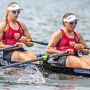 Olivia Loe & Brooke Donoghue , New Zealand elite  Womens Double Scull <br /> <br /> Racing at the Henley Royal Regatta on The Thames river, Henley on Thames, England. Friday 5 July 2019. © Copyright photo Steve McArthur / www.photosport.nz