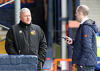Blackpool's Manager Terry McPhillips looks on before kick off<br /> <br /> Photographer David Shipman/CameraSport<br /> <br /> The EFL Sky Bet League One - Luton Town v Blackpool - Saturday 6th April 2019 - Kenilworth Road - Luton<br /> <br /> World Copyright © 2019 CameraSport. All rights reserved. 43 Linden Ave. Countesthorpe. Leicester. England. LE8 5PG - Tel: +44 (0) 116 277 4147 - admin@camerasport.com - www.camerasport.com
