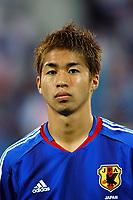 "12/08/04 - THESSALONIKI - GREECE -  - JAPAN OLYMPIC MENS FOOTBALL TEAM -  <br />First match Group B - JAPAN () Vs. PARAGUAY -<br />At the THESSALONIKI ""KAFTATZOGLIO STADIUM"".<br />Min.= '   Japan player N*7 MORISAKI Koji<br />© Gabriel Piko / Piko-Press"