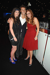 Left to right, SARAH LANGRIDGE, DAVE CLARK and HRH PRINCESS BEATRICE OF YORK at the Berkeley Square End of Summer Ball in aid of the Prince's Trust held in Berkeley Square, London on 27th September 2007.<br />