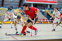 AMSTERDAM -  Jordi Schramel (Laren) Zaalhockey hoofdklasse, Amsterdam H1-Laren H1 (9-1). COPYRIGHT KOEN SUYK