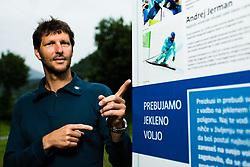 Portrait of Andrej Jerman, former Slovenian Olympian in downhill and multiple downhill world cup winner. Bistrica pri Trzicu, 3. July 2020, Trzic, Slovenia. Photo by Grega Valancic / Sportida
