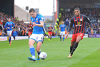 Rochdale's Jim McNulty under pressure from Blackburn Rovers' Dominic Samuel<br /> <br /> Photographer Kevin Barnes/CameraSport<br /> <br /> The EFL Sky Bet League One - Rochdale v Blackburn Rovers - Saturday 9th September 2017 - Spotland Stadium - Rochdale<br /> <br /> World Copyright © 2017 CameraSport. All rights reserved. 43 Linden Ave. Countesthorpe. Leicester. England. LE8 5PG - Tel: +44 (0) 116 277 4147 - admin@camerasport.com - www.camerasport.com