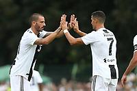 Leonardo Bonucci, Cristiano Ronaldo <br /> Villar Perosa 12-08-2018 Friendly Match - Amichevole Juventus A Vs Juventus B foto OnePlusNine/Insidefoto