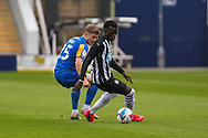 *** during the EFL Trophy match between Shrewsbury Town and U21 Newcastle United at Greenhous Meadow, Shrewsbury, England on 22 September 2020.