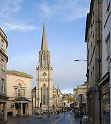 Church of Saint Michael, Walcot Street, Bath, Somerset, England built in Early English style of Gothic architecture, architect C.P. Manners 1837.